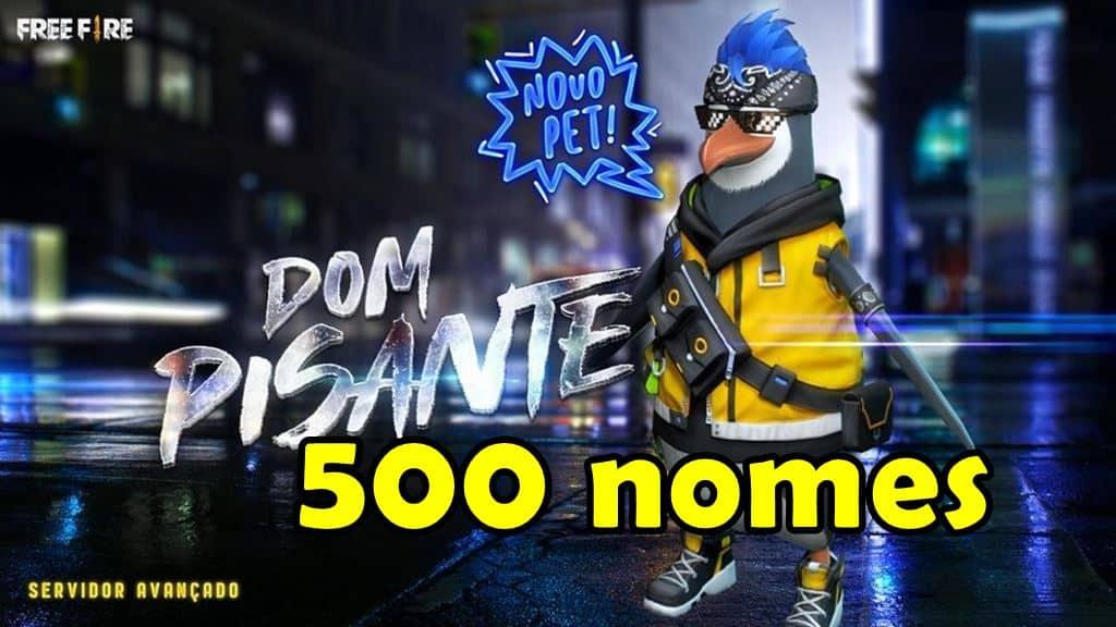 dom-pisante-nomes-pinguim-free-fire-2 500 Nomes para o Pinguim Dom Pisante de Free Fire
