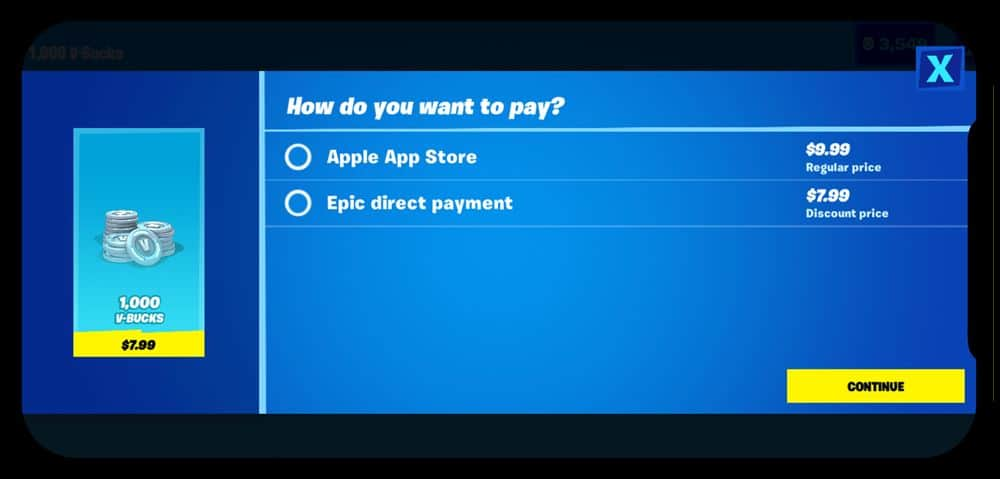 epic_direct_pay_apple_app_store Apple removeu Fortnite da App Store (atualizado: e a Google Também)