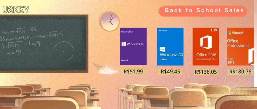 MOB-promocoes-u2key Voltas às aulas com a U2KEY: Windows 10 Pro por R$ 51,99 e Office 2016 Pro por R$136