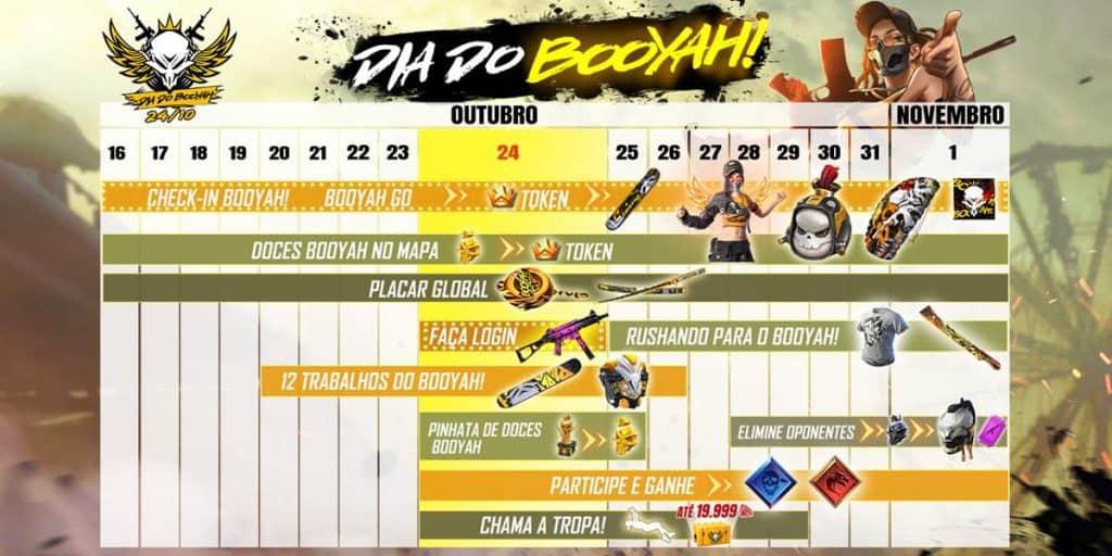 programacao-evento-dia-do-booyah-free-fire-1024x512 Free Fire terá evento com recompensas gratuitas até o dia 1º de novembro