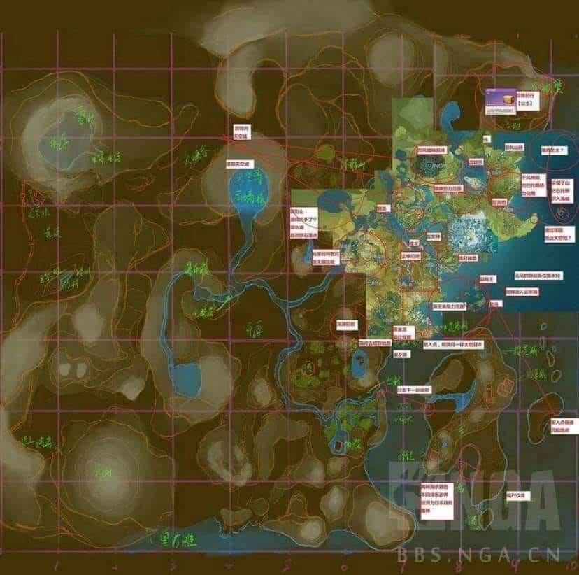 Genshin Impact: Mapa Vazado Mostra o Mundo Completo do Jogo