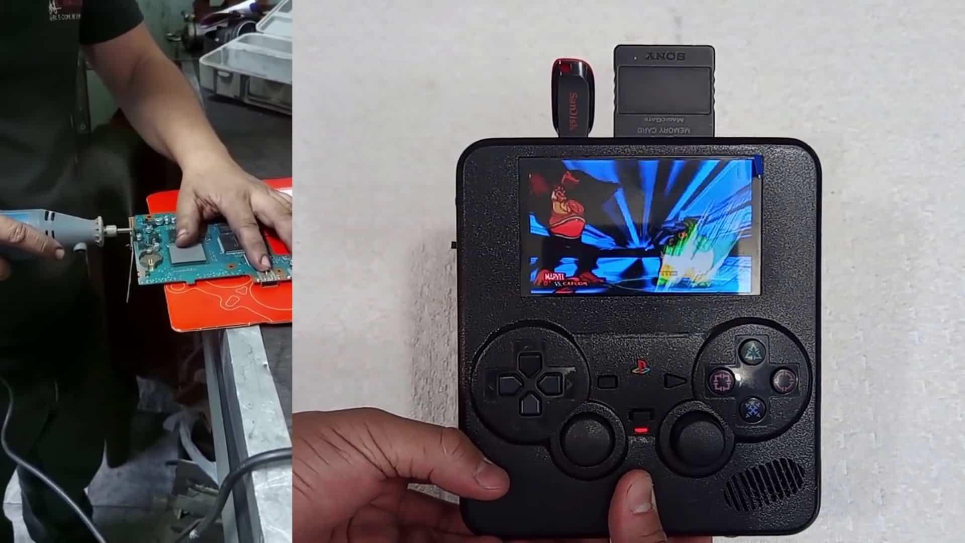 Brasileiro cria PS2 Portátil